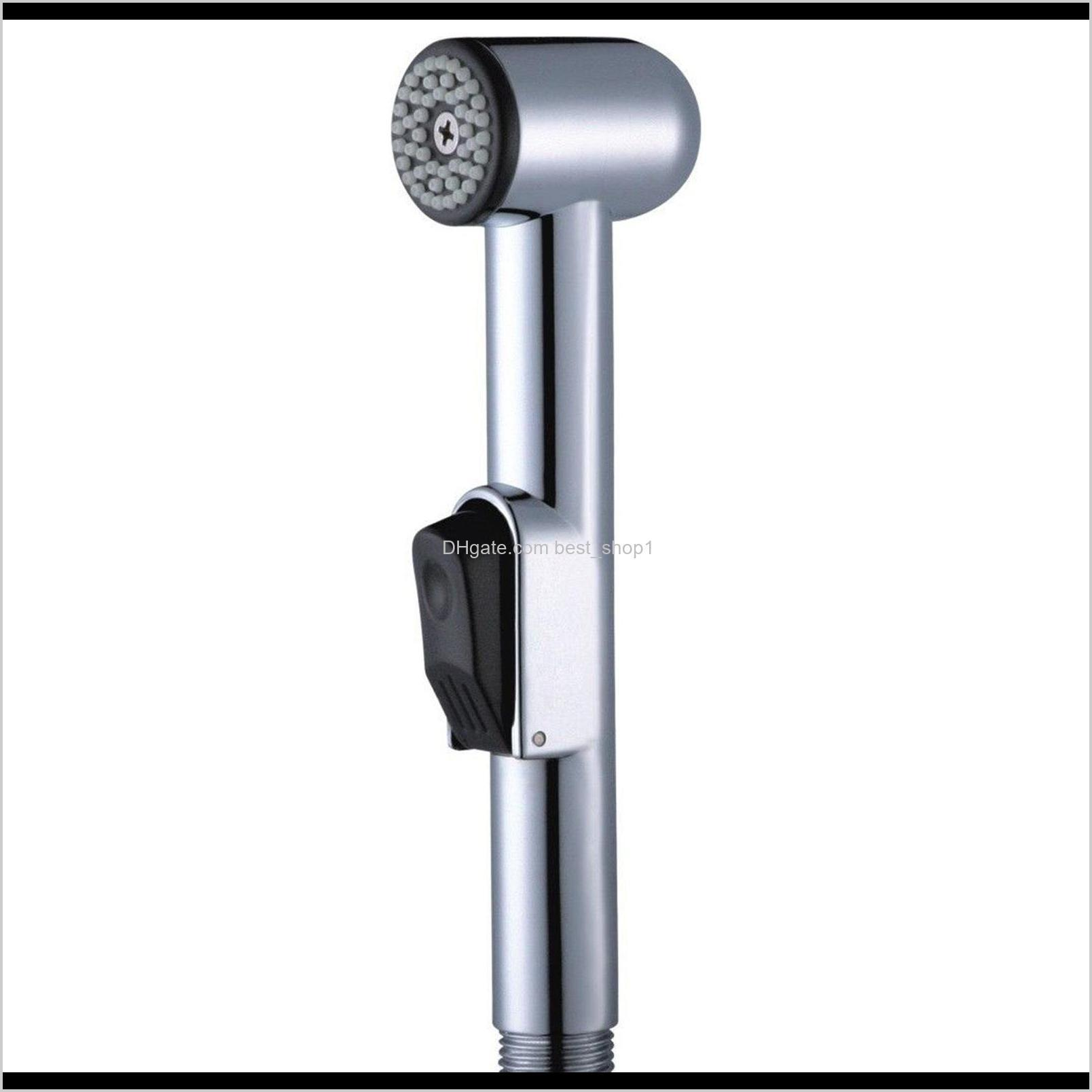 "Bathroom Toilet Abs Bidet Sprayer Single Head Hand Held Chrome Douche Shattaf Diaper Wash Spray Shower Nozzle G1/2"" Connect Size Iiub4 Okmn4"