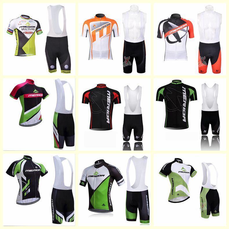 Merida Team Cycling Mangas cortas Jersey Babero Shorts Sets Ropa para hombres Ropa de Alta Calidad Summer Bicycle Sports Uniform S21030376