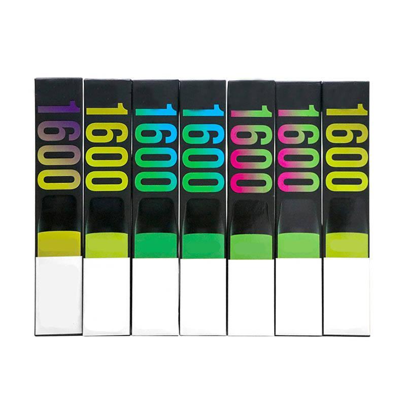 최신 퍼프 XXL 일회용 vape 장치 퍼프 xxl 650mah 배터리 1600puffs 퍼프 바 미리 채워진 키트 일회용 전자 담배 16350 배터리 모델