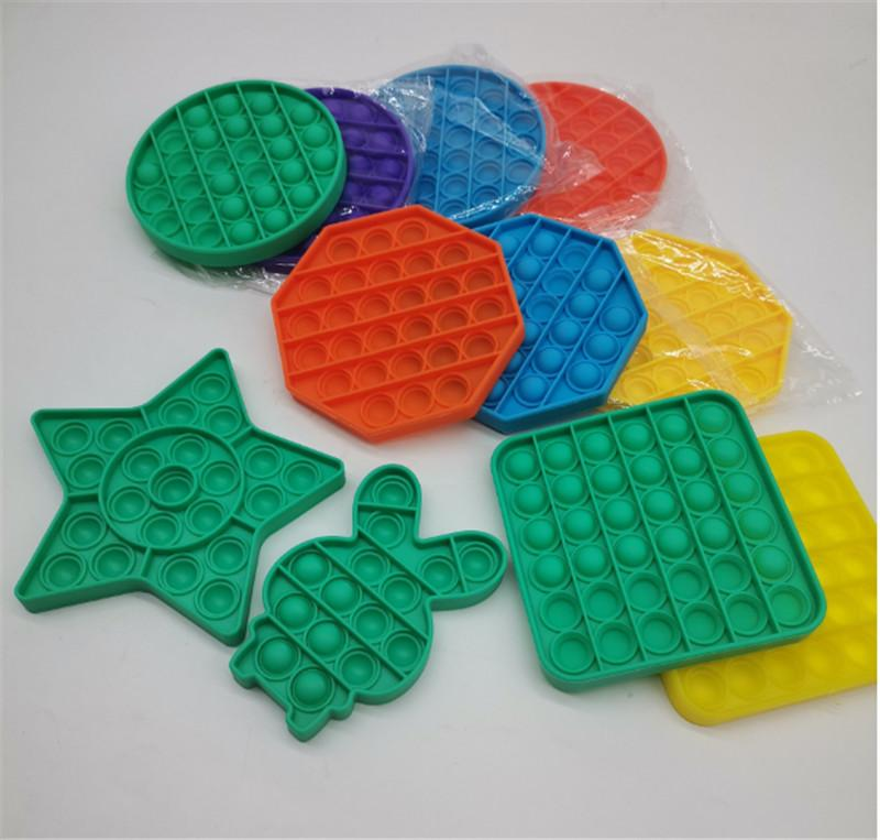 Push Pops Bubble Toy Sensory per Autism Needs Speciali ADHD Autism Squishy Stress Stress Reliever Giocattoli Bambino divertente Anti-stress Giocattoli Fidget