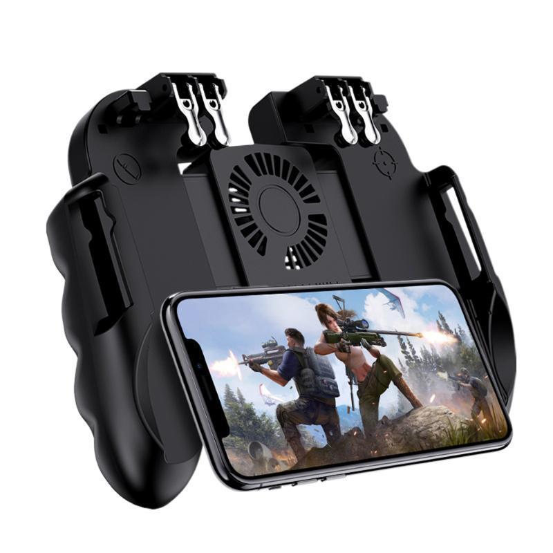 Controladores de jogos Joysticks Ergonômico Pubg Controlador 6 dedos Gamepad Trigger Shooting Fan Fan Joystick para Android Mobile Phone