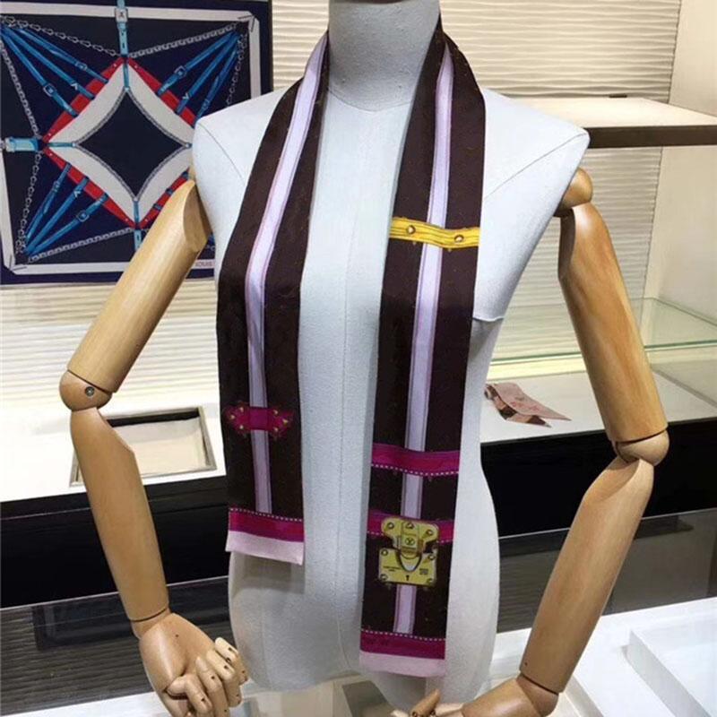 Venda quente Womans Headband Marca Lenço de Alta Qualidade Silk Lenços Clássico Womans Headband Tamanho 120x9cm para mulheres KH-55B