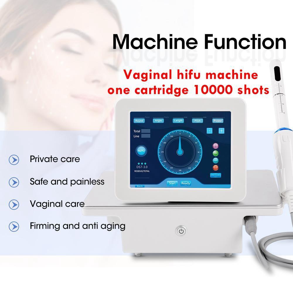 المحمولة المهنية عالية كثافة التركيز الموجات فوق الصوتية آلة hifu 10000 الطلقات تقليص الجلد المهبل تشديد تجديد الجهاز الجمال CE