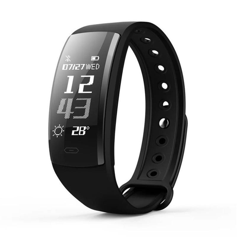 QS90 Smart Armband Uhr Blutdruck Herzfrequenz Monitor Smart Watch OLED-Bildschirm IP67 Fitness Tracker Smart Armbanduhr für iPhone Android