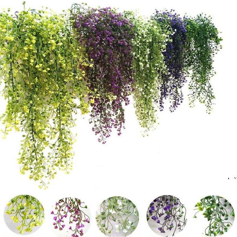 Flores artificiais Videira Folha de Seda de Folha de Videira Planta Falsa Planta Artificial Plantas Verde Guirlanda Casa Casa Partido Decoração DWD5522