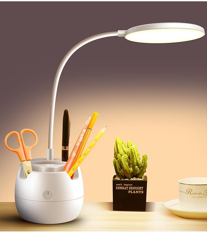 Eyes Protezione Lampada da tavolo LED Lampada da tavolo Bright USB Porta di ricarica Touch Control Desk Spot Letto Stile regolabile