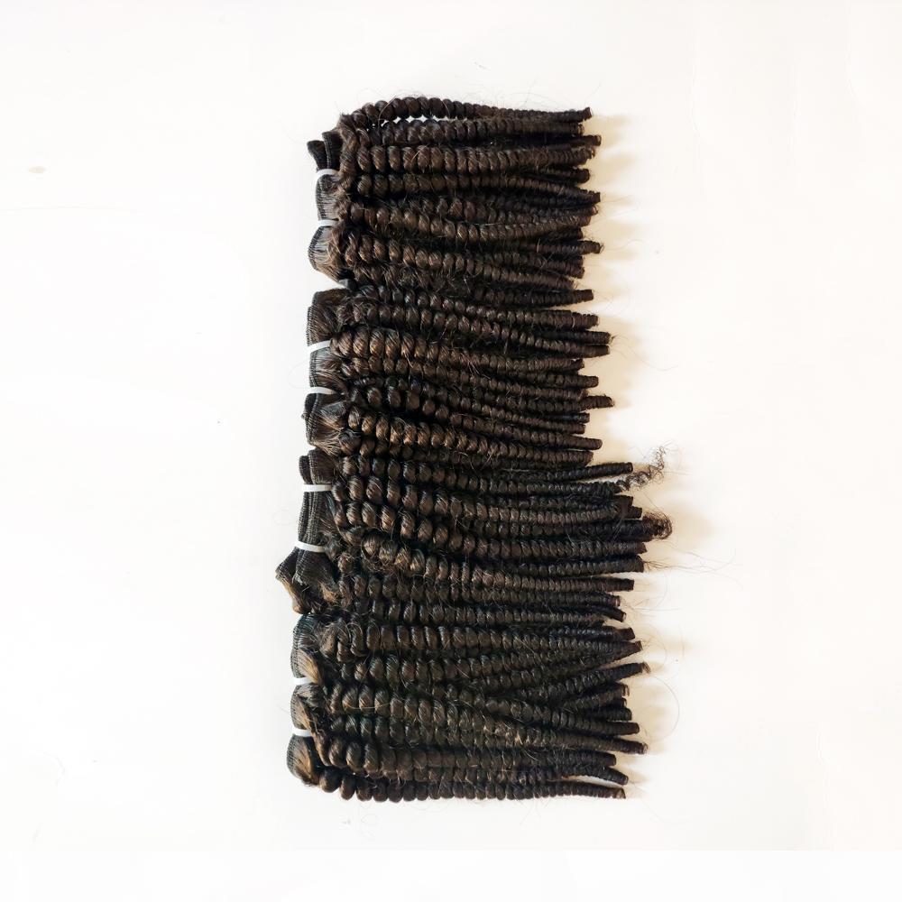 Mujer negra sin procesar Brasileño Virginal Pelo Afro 4C Kinky Rizado Mejor Calidad Duradera India Remy Pelo Trowft para la venta Fábrica Precio 3pcs Lot