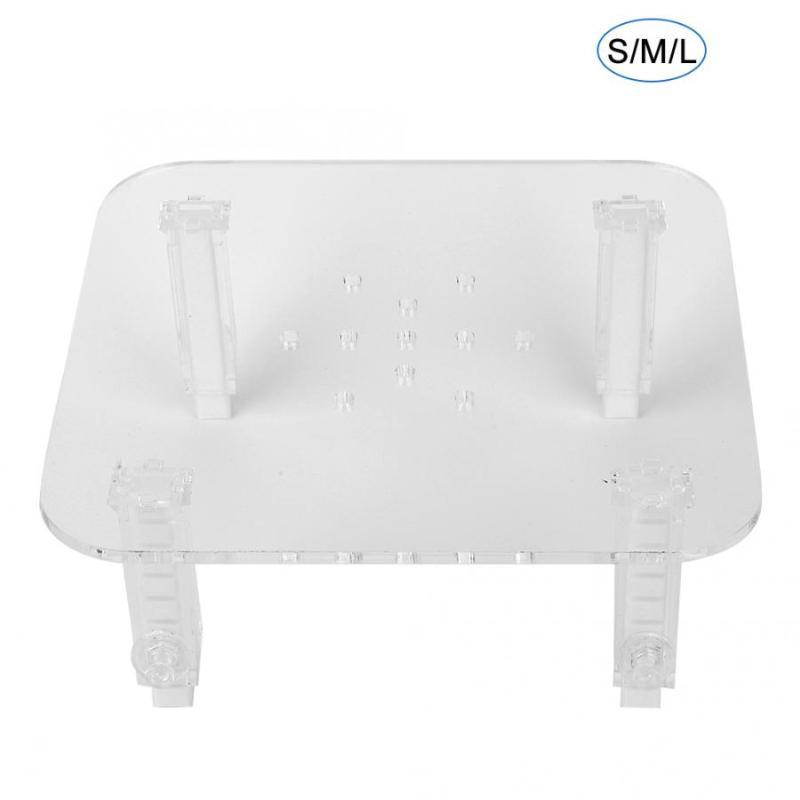 수족관 내구성 아크릴 단백질 스키머 브래킷 조절 가능한 높이 세퍼레이터 수족관 식물 액세서리 LCD 고정