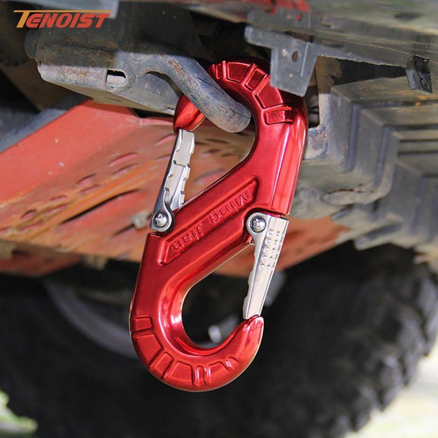 High Strength Durable Red Green Aluminum Alloy Forging Offroad Wrangler F150 G55 Truck BUS Towbar S Hook