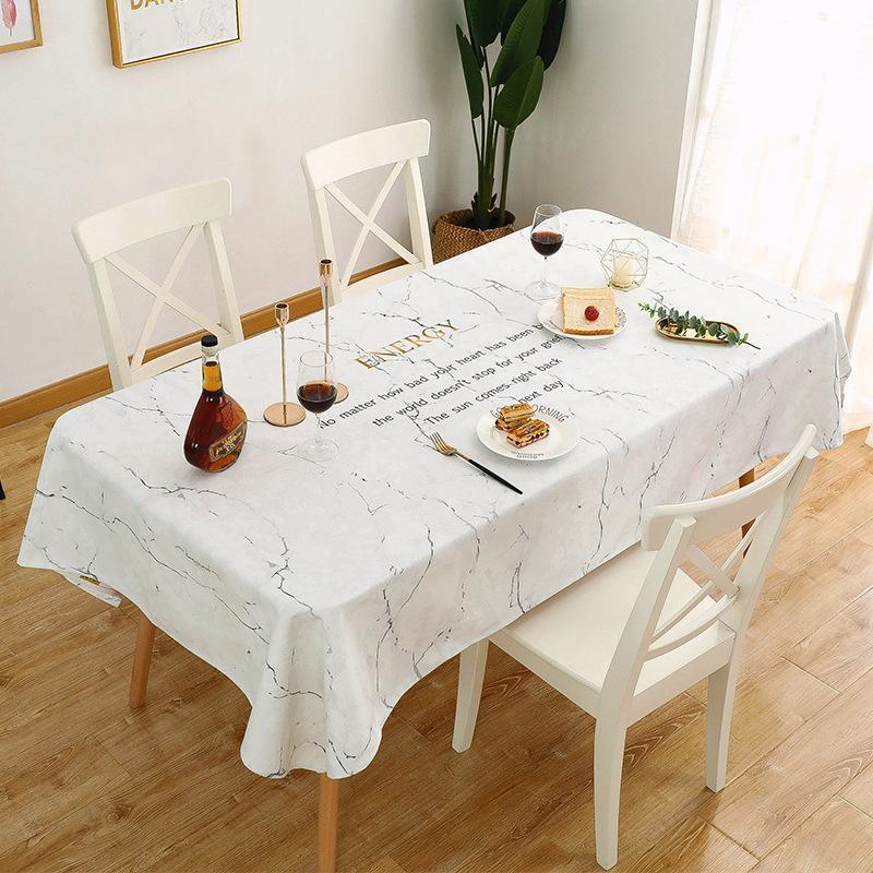 Modèle de marbre créatif épais coton en lin d'art étanche Nappe-Nappe à l'huile Facile à nettoyer Table Table Table Table Table Couverture
