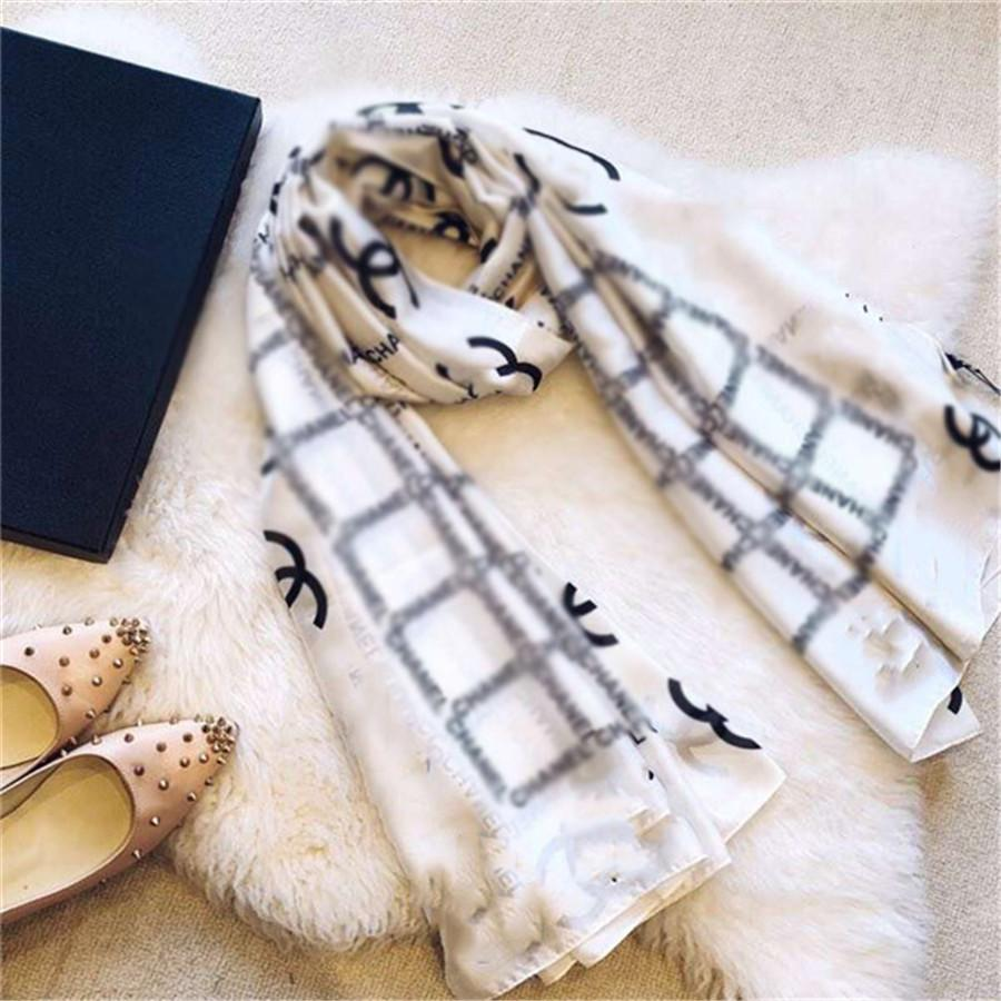Nuova sciarpa di seta di marca per le donne Spring Design Sciarpe lunghe involucro con tag 180x90cm scialli