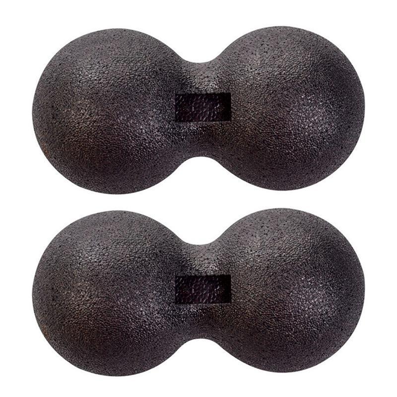 2 Pcs Epp Fitness Peanut Massage Ball Fascia Massager Roller Pilates Yoga Gym Relaxing Exercise Equipment Fitness Balls, S & L