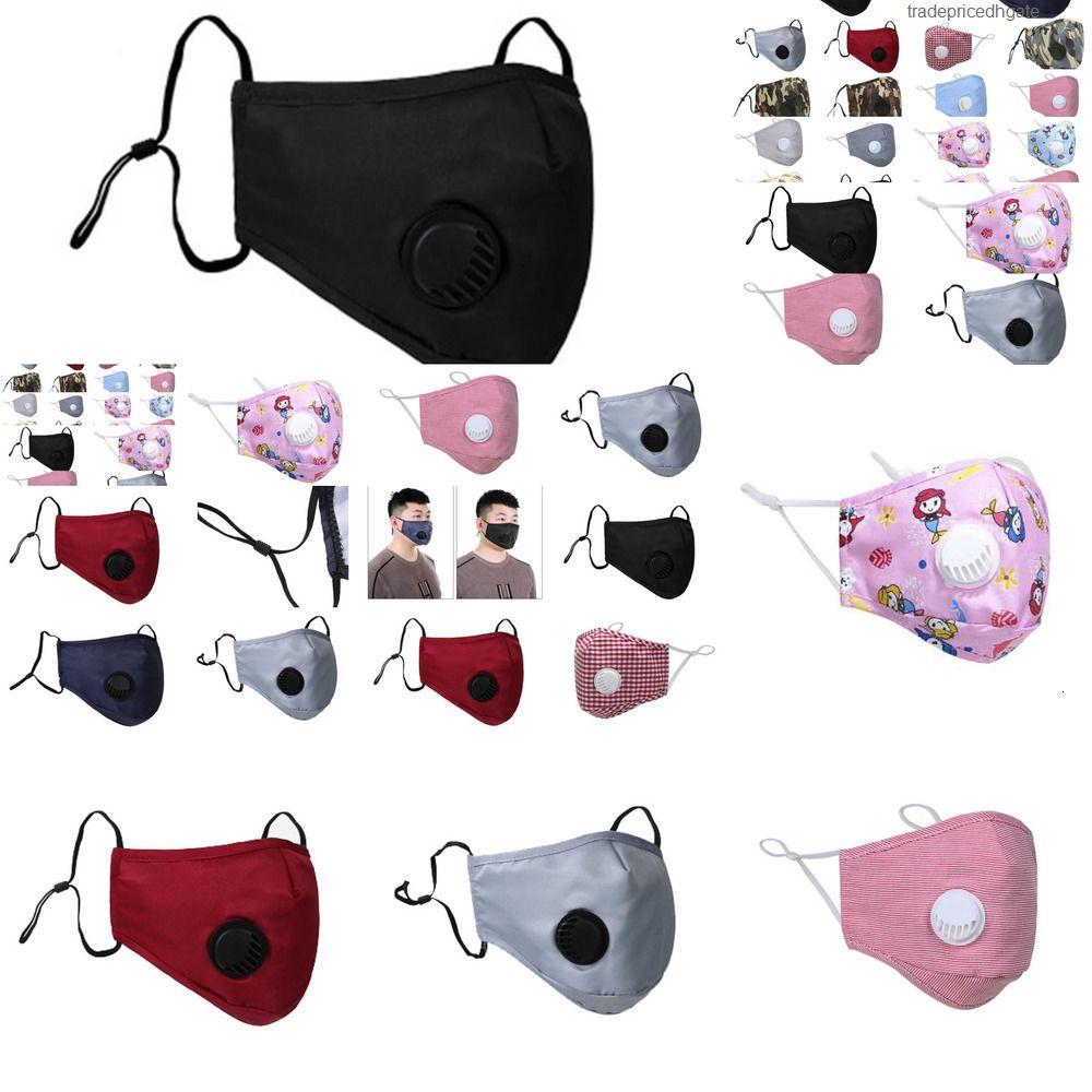 Dustproof Er Mouth Face Anti-l Designer Mask Pm2.5 Washable Reusable Ice Silk Co Hy8t R4cu EL45