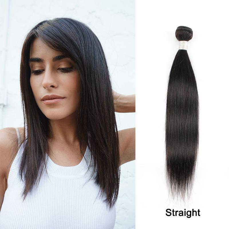 Brazilian Straight Remy Hair Peruvian human hair weaves bundles Virgin Hair-Extension