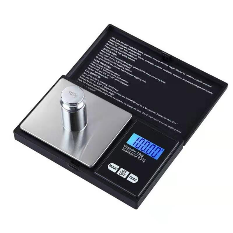Mini balança de bolso 0,01 x 200g de jóias de ouro de moeda de prata pesar equilíbrio LCD eletrônico digital