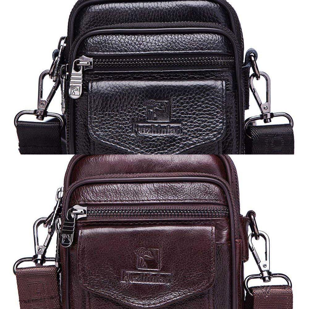 2020 Fashion Men's Crossbody Shoulder Bags Quality Vintage cow leather Sling Tote Bag Fashion Business Man Messenger Handbag C0224
