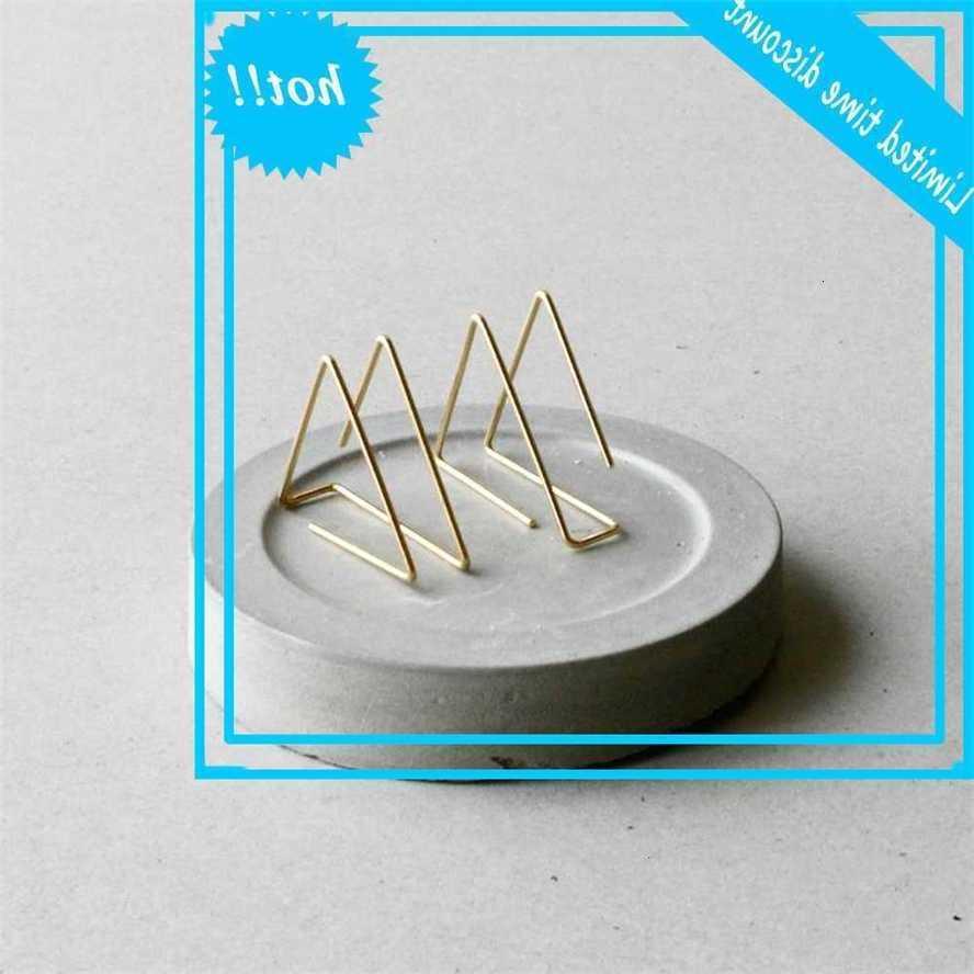Triangolo Handmade Minimalist Jewellery Gold riempito 925 Argento Argento orecchini orecchini pendente per le donne