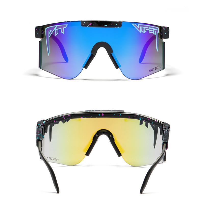 Pit y víbora Dropshipping de marca UV400 Gafas Gafas de sol Hombres de gran tamaño Impresionante de sol a prueba de sol Gafas de sol Escudo de conducción Gafas de Sol