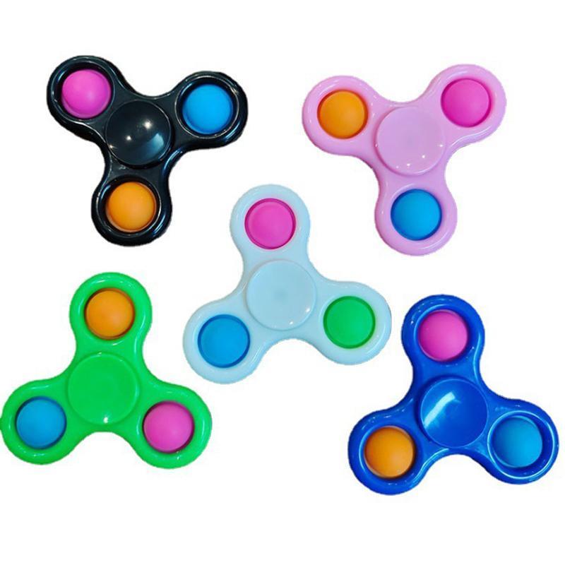 Fidget Spinner Simple Dimple Neuheit Finger Spinner Toys Zappeln Flip Sensory Büroschreibtisch Spielzeug Stressfreigabe