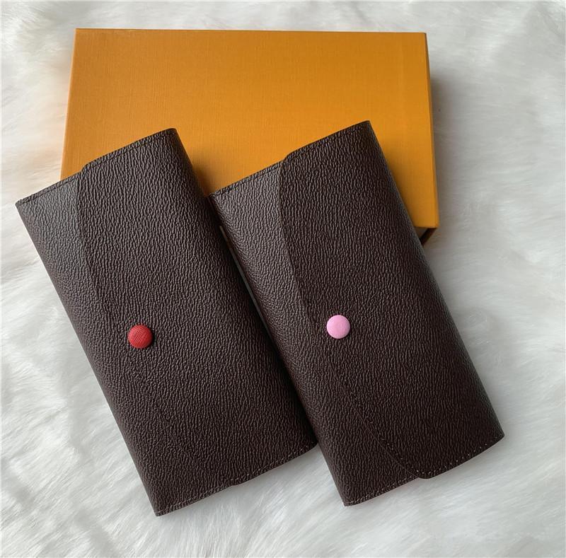 Wholesale Mujeres Lady Long Wallet MULTICOLOR DESIGNADOR Monedero de monedero con caja Mujeres Classic Zipper Bolsillo Larga Wallet Envío gratis