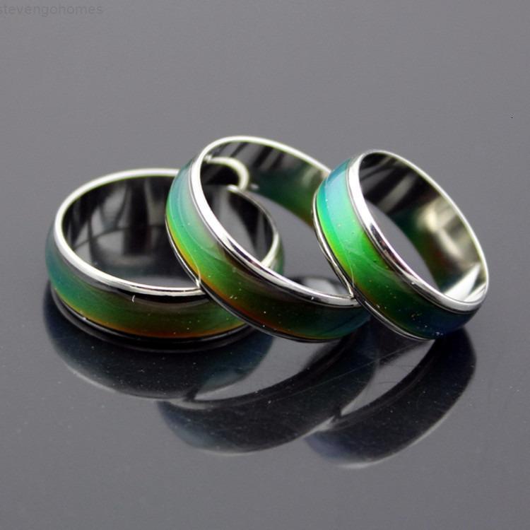 Emotion Fashion, изменение волшебного настроения цветное кольцо температура Чувство Размер 16-20 мм кольца из нержавеющей стали для женщин / мужчин