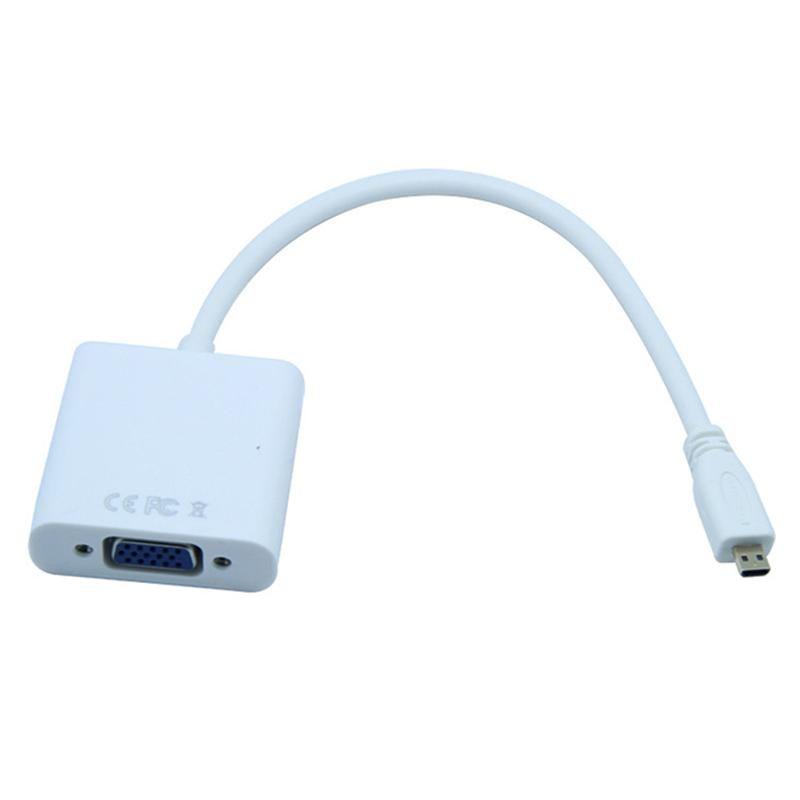 كابلات الصوت موصلات مايكرو إلى VGA محول محول الذكور أنثى 1080P للكمبيوتر HDTV Xbox كاميرا محول فيديو محول