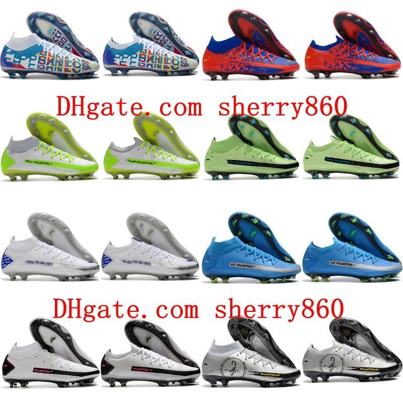 2021 Futbol Ayakkabıları Varış Erkek Phantom GT Elite DF 3D FG Cleats Futbol Çizmeler Scarpe Calcio Açık