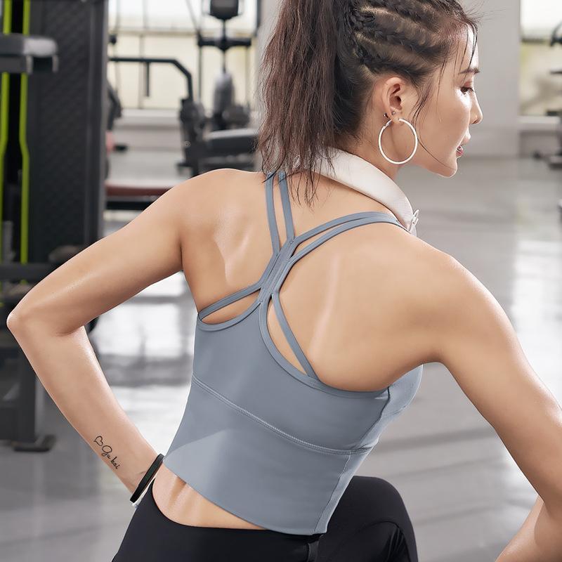 Chaleco de yoga de copa fija, hermosa espalda, alta resistencia, fácil de usar, ropa interior deportiva, embalaje grande, ropa exterior, ropa interior de gimnasio