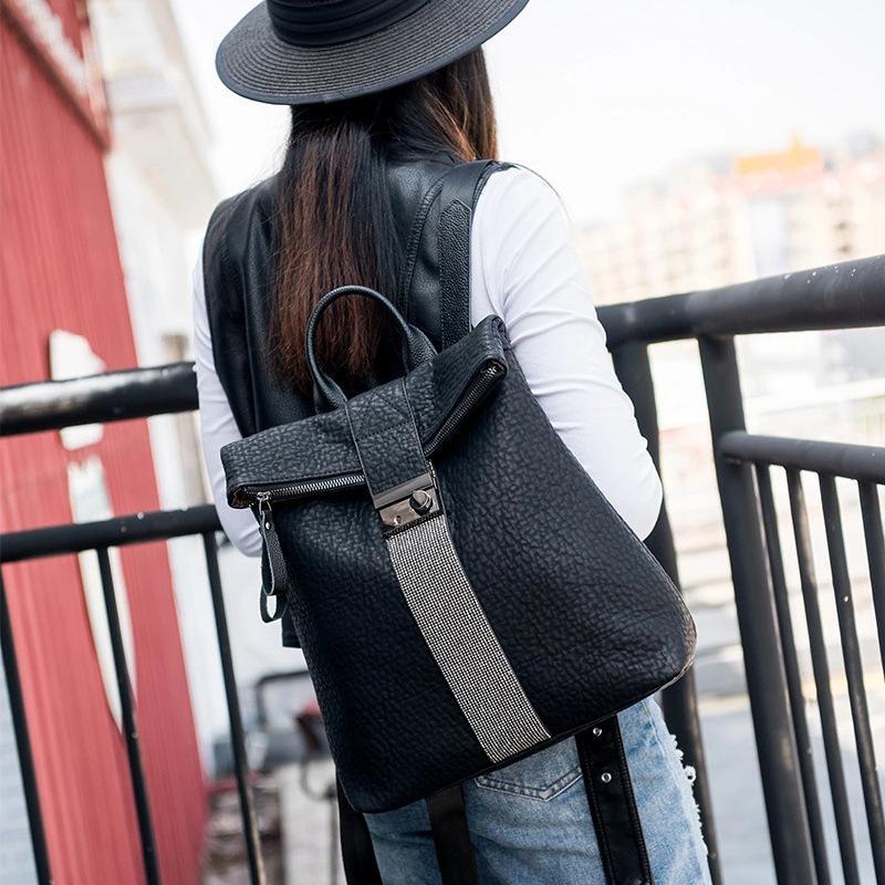 Saco feminino de Guangzhou 2021 novo rosto macio embutido diamante mochila feminina mochila feminina saco de viagem de bloqueio personalizado