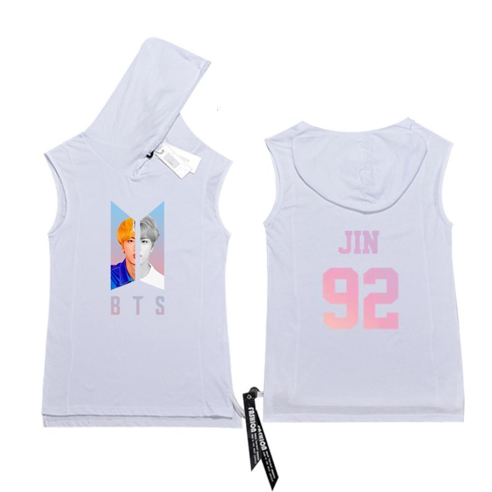 Sweatshirts BTS Gleiche bulletproof Youth League Hilfe um, Mit Kapuze T-Shirt, Fitnesssport, ärmellose Weste, Männer Sommer tragen