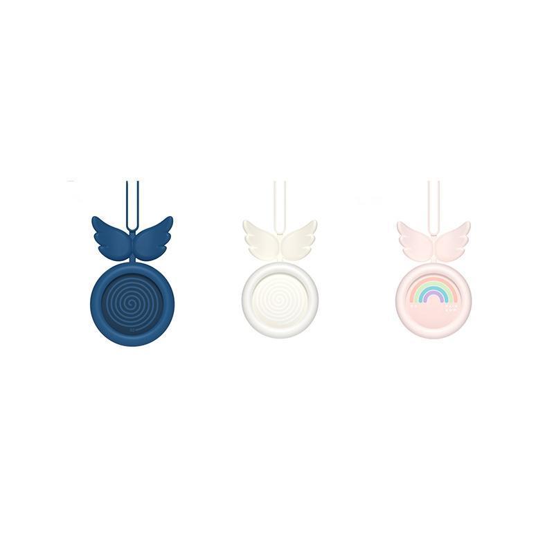 Angel Colgando Cuello Fan Mini Lanyard Handheld USB Dibujos Animados Fan