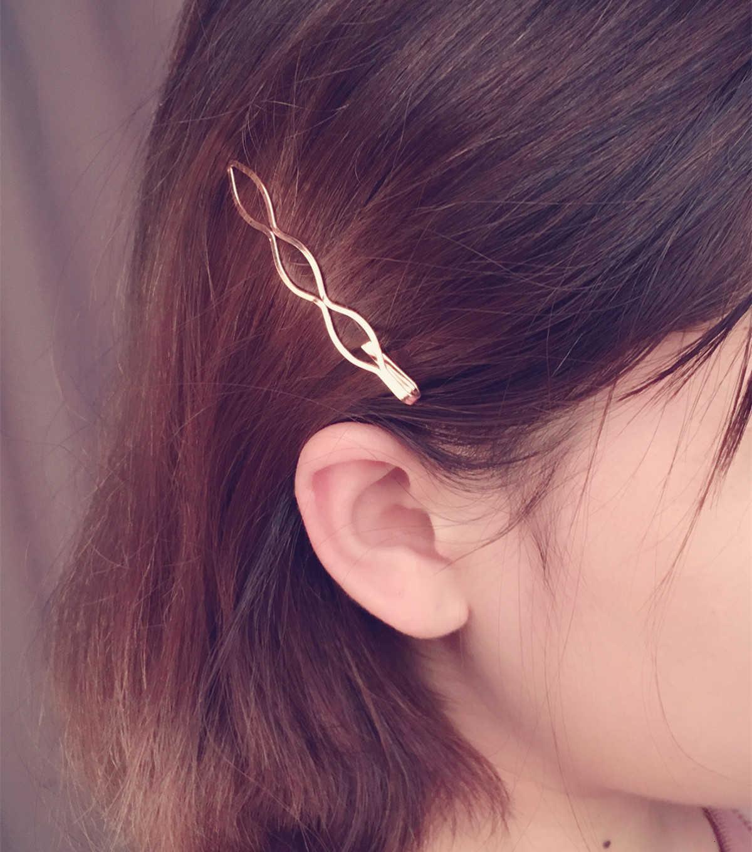 Saç Aksesuarları Avrupa Moda Öğesi Headdress Geometrik Pullu Yaprak Firkete Kenar Klip A229