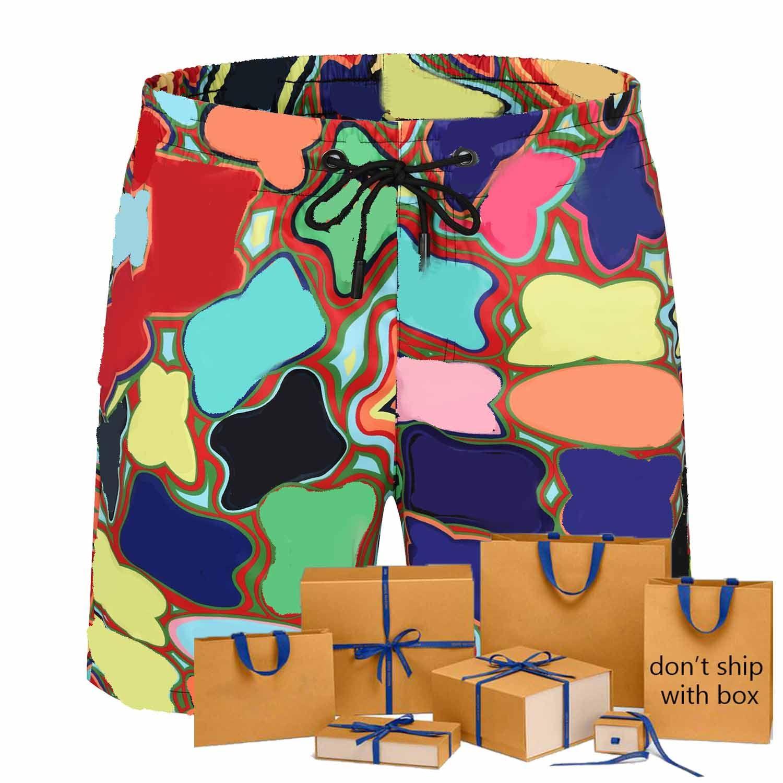 21 Summer Men Board Shorts Contrasto Colore Colore Modello Fashion Ins Ins Vendita Calda Costumi da bagno da uomo Trendy Traspirante Beach Swim Shorts