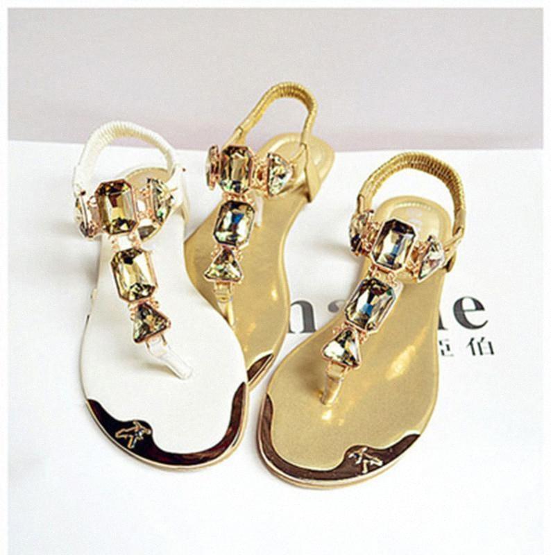 Padegao 여자 샌들 2020 패션 고품질 라인 석 여성 플립 플롭 신발 숙녀 캐주얼 여름 해변 신발 PDG752 C2mm #