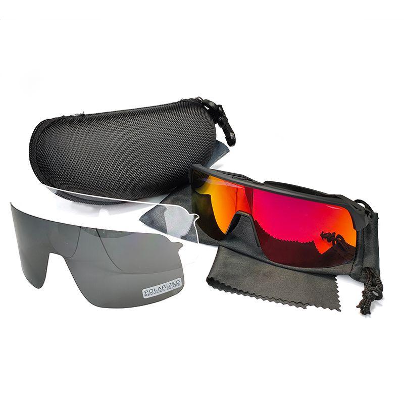 새로운 스타일 자전거 타는 태양 안경 스포츠 자전거 안경 낚시 안경 야외 스포츠 안경 9406 절반 프레임 남성 사이클링 아이웨어 3pcs 렌즈
