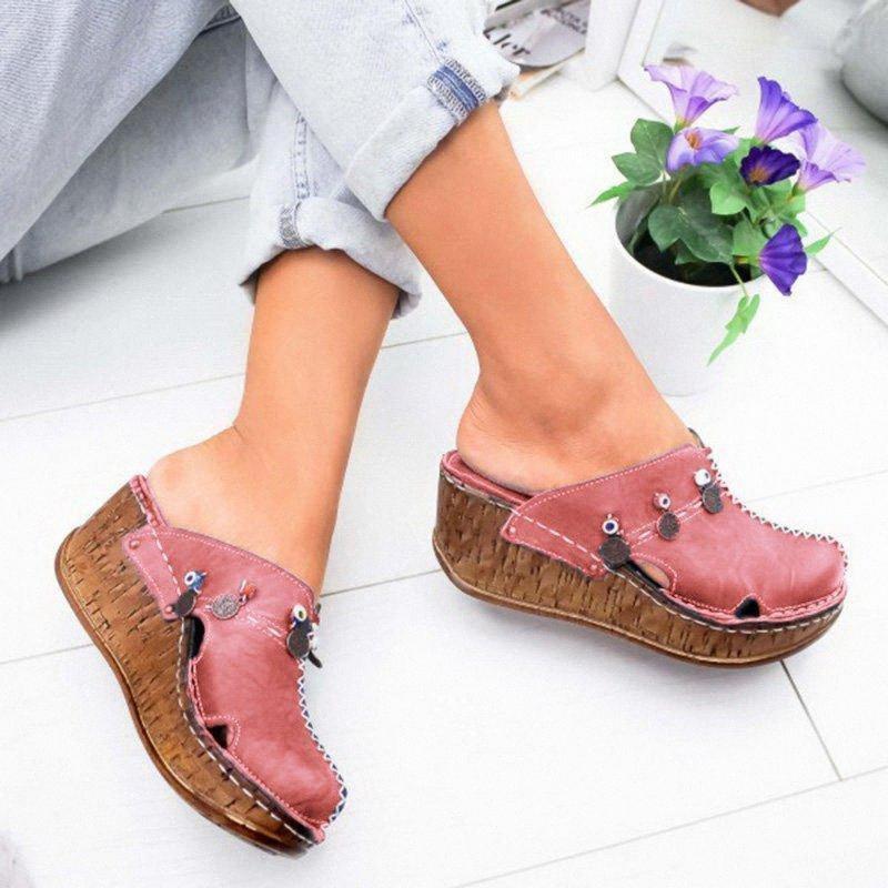 Liting 2020 Womens Sandalen Sommer Damen Mädchen Komfortables Knöchelhöhle Runde Zeh Sandalen Weibliche Weiche Strand Sohle Schuhe Hausschuhe für 32HW #