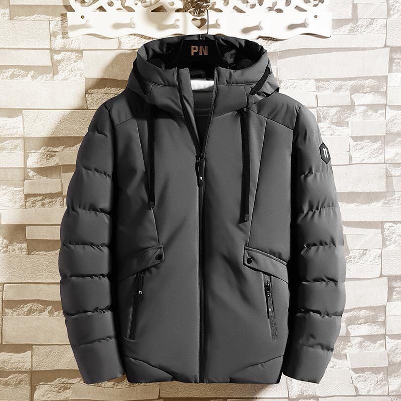 Мягкие мужские новые утолщенные пальто мода марка осень зима с капюшоном короткая рабочая одежда хлеб вниз хлопковая куртка XHLFDC