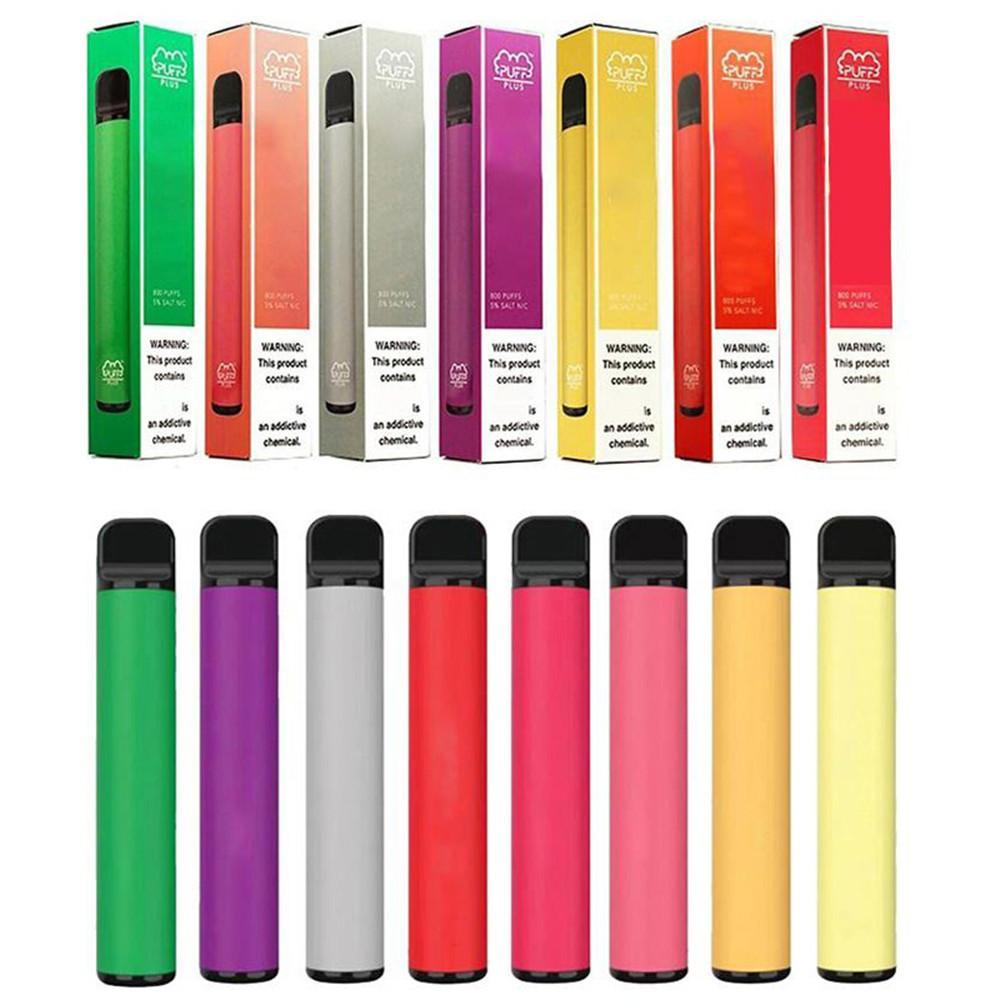 Puf Bar Plus Tek Kullanımlık Vapes 800 Puffs Kartuş 450 mAh Pil 3.2ml Önceden doldurulmuş Vape Pods Sopa Stil E Sigara