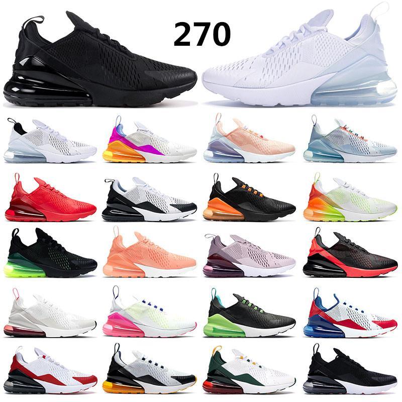 air max 270 남성을위한 새로운 실행 신발은 사진 블루 메탈릭 골드 블랙 화이트 그레이 신선한 민트 로즈 핑크 스포츠 트레이너 크기 36-45를 운동화 자란 여자