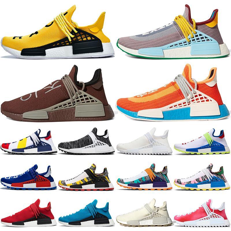 adidas Originals Human Race Hu NMD Trail солнечная дешевая оптовая продажа ЧЕЛОВЕЧЕСКАЯ гонка Pharrell Williams x 2016 Мужская женская скидка тренера мужчины Спортивная обувь для дизайнера