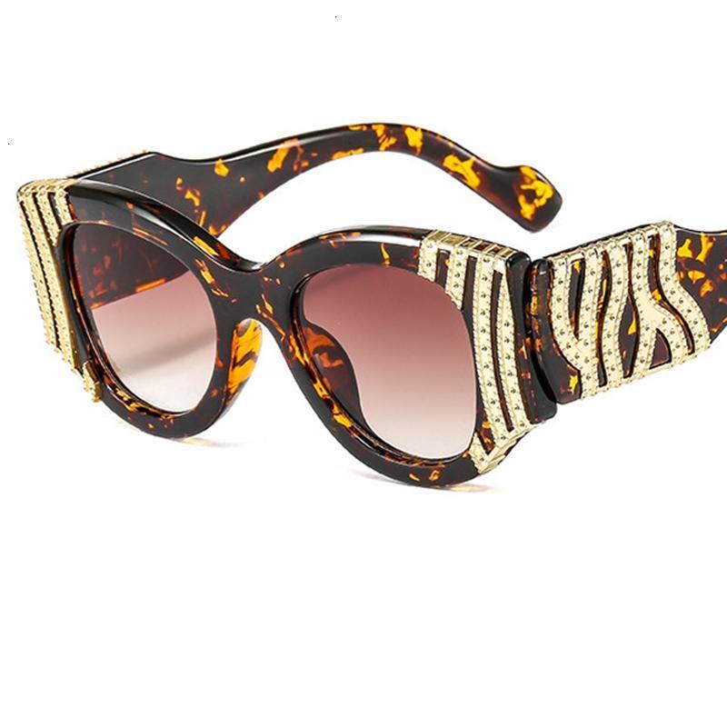 Occhiali da sole Designer Trends Donna Vintage Cat Eye Moda Big Frame BLA Occhiali da sole per donna Oculos di marca di lusso