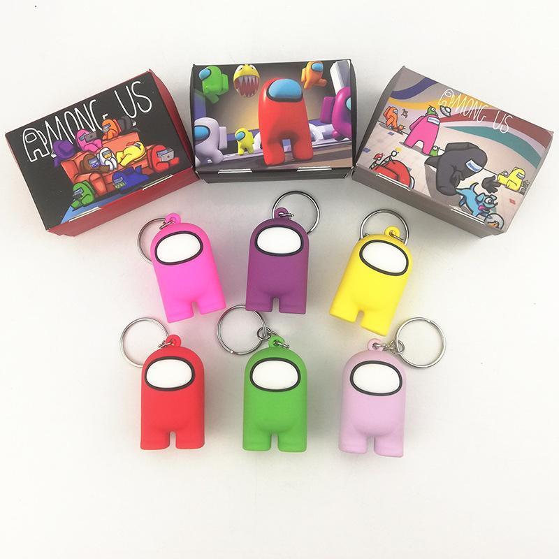 영화 게임 키 체인 액세서리 미국 액션 인물 5cm PVC 단단한 인형 장난감 귀여운 열쇠 고리