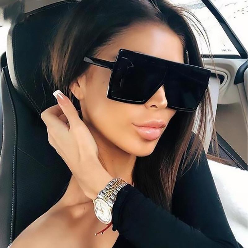 Occhiali da sole 2021 Oversized Square Oculos Donne Eyewear Big Frame Occhiali da sole Occhiali da sole Sfumature femminili Gafas Lady