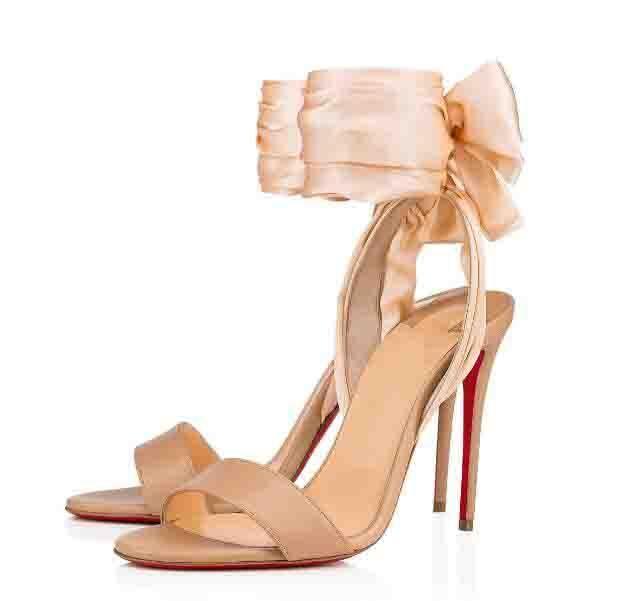 Popüler ucuz kadın tasarımcı sandale du çöl kırmızı alt sandalet zarif bayan yüksek topuklu anke kayış yaz sandalias kutusu ile