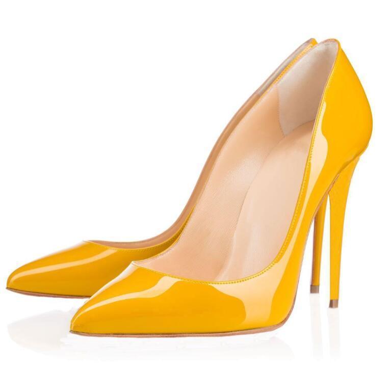 Высочайшее качество женские дизайнеры красные днища свадьбы высокие каблуки сексуальные заостренные носки подошвы 8 см 10 см 12 см насосы поставляются с логотипом обувь 688