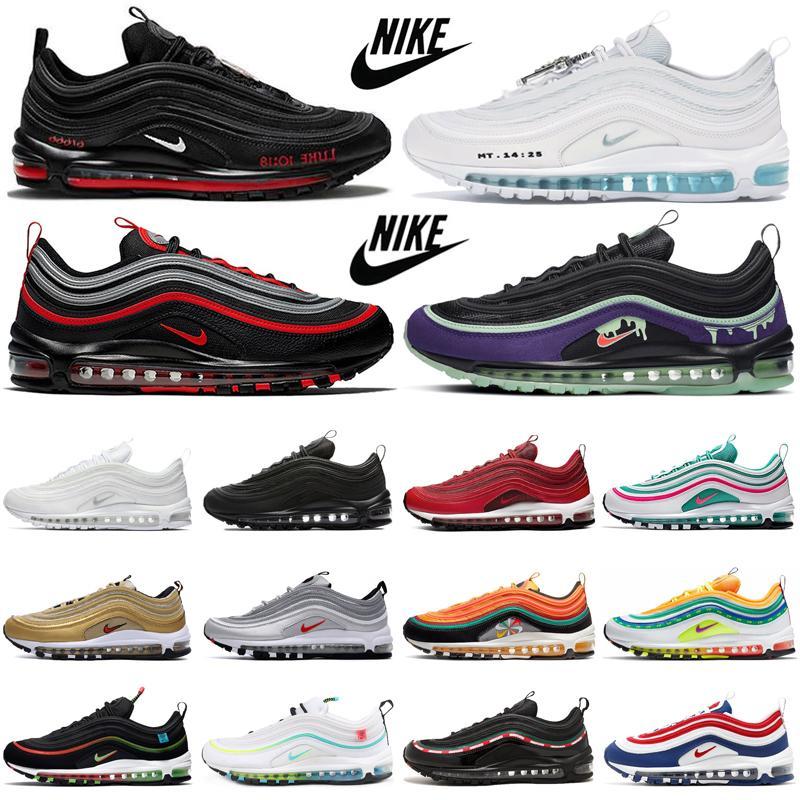 2020 Dünya Çapında Koşu Ayakkabıları Erkek Eğitmenler Sean Wotherspoon MSCHF x INRI Jesus NEFEATED Üçlü Siyah Beyaz Spor Ayakkabılar Eğitmenler 36-45