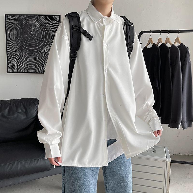 Privathinker New Fashion Brand Men's 2021 Casual Camisas Mujer Sólido Color Tops Hombre Manga larga Streetwear Streetwear Ropa YDV5