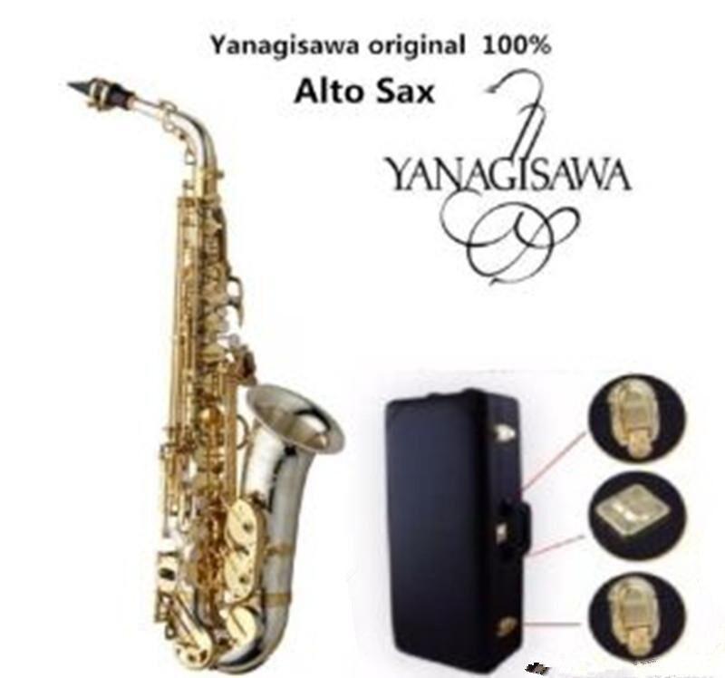 العلامة التجارية الجديدة Yanagisawa A-WO37 ألتو ساكسفون الفضة مطلي الذهب مفتاح المهنية سيكس مع القضية المعبرة والاكسسوارات شحن مجاني