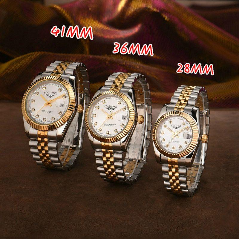 U1 2813 Herren Automatische Golduhr Kleid Full Edelstahl Saphir Wasserdichte Leuchtende Paare Stil Klassische Armbanduhren Montre de luxe