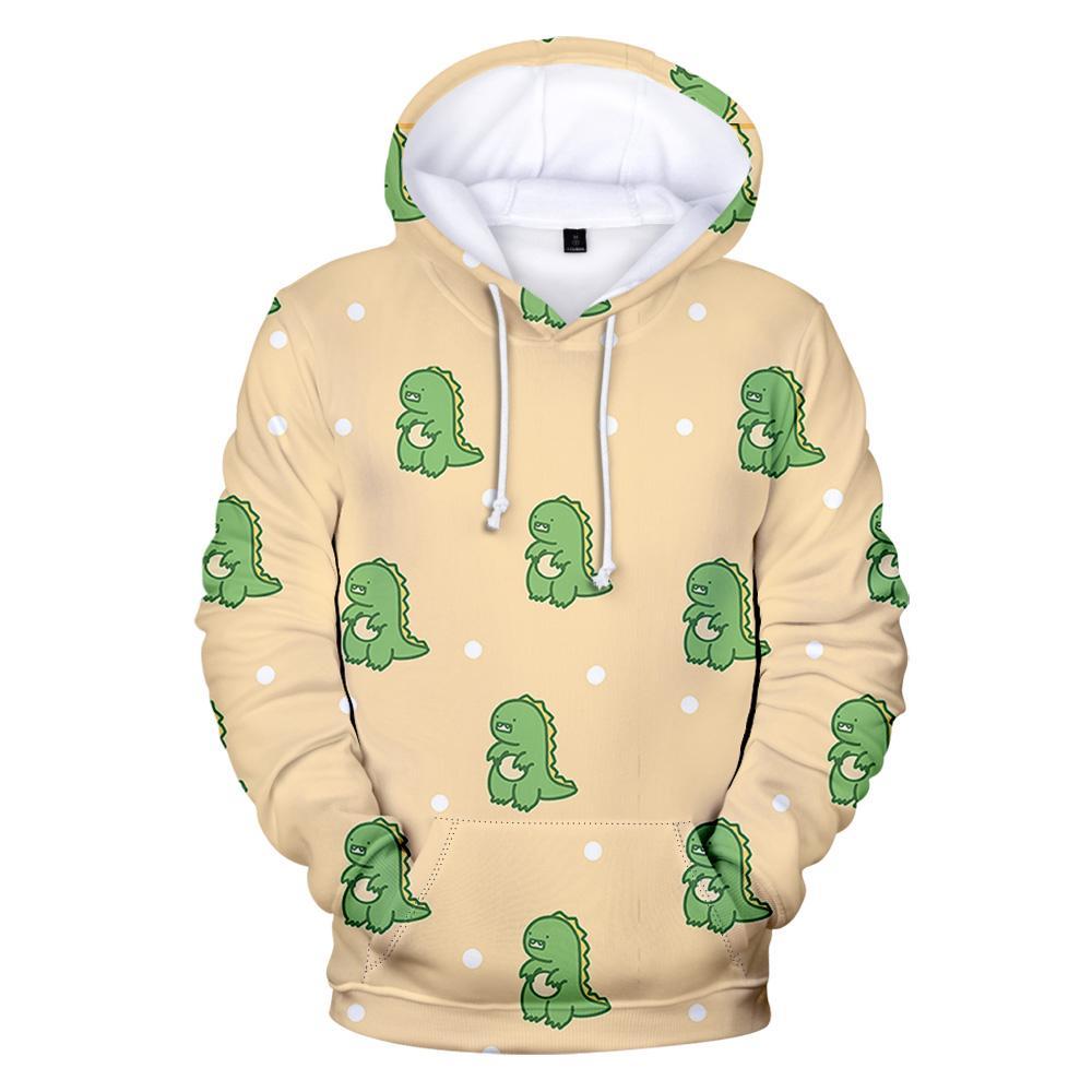 Küçük Dinozor Hoodies Moda Sevimli Çocuk Hoodie Erkek Kadın Yetişkin Hoodies Harajuku Popüler Hayvan Baskı Hoodies Tişörtü